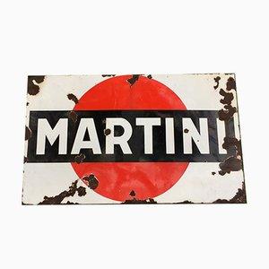 Emailliertes Vintage Martini Schild