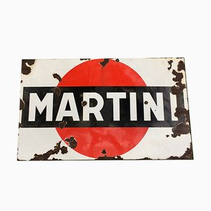 Vintage Enameled Martini Sign