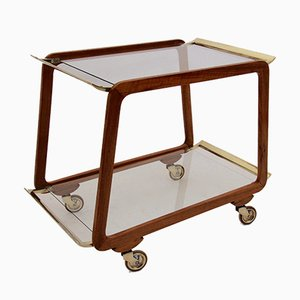 Mid-Century Viennese Brass and Glass Trolley, 1960s