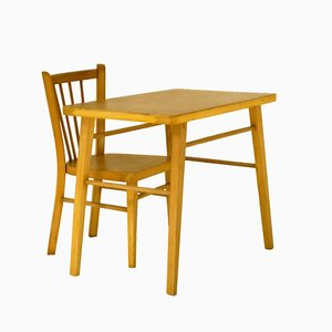Children's Desk & Chair Set from Baumann, 1960s