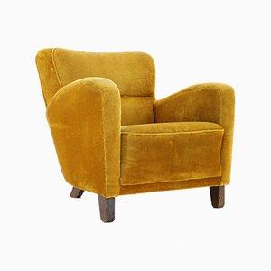 Art Deco Yellow Armchair, 1930s