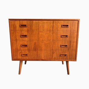 Danish Modern Teak Dresser with Four Drawers, 1960s