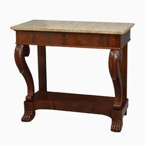 Table Console Antique en Acajou