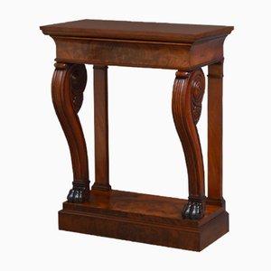 Table Console William IV Antique en Acajou