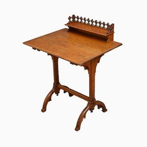 Table Console Style Gothique Antique en Chêne