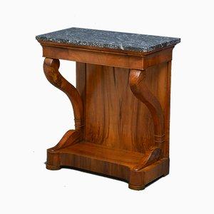 Table Console Style Louis Philippe Antique en Noyer