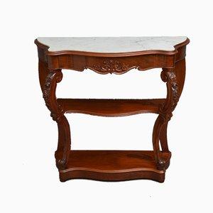 Table Console Victorienne Antique en Acajou