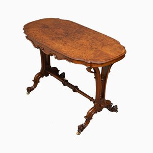 Antique Victorian Burr Walnut Side Table