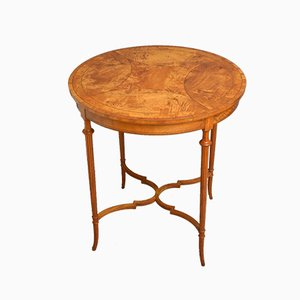 Antique Edwardian Satinwood Coffee Table, 1890s