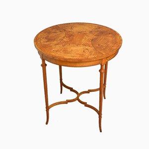 Table Basse Édouardienne Antique en Bois de Satin, 1890s