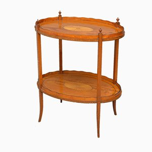Antique Victorian Satinwood Tray Table