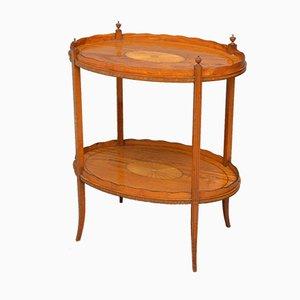 Tavolino vittoriano antico in legno satinato