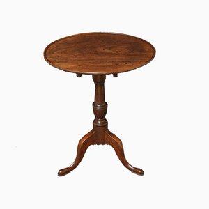 Table Console George III Antique en Acajou avec Plateau Inclinable