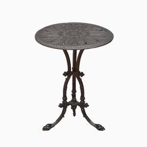 Table de Jardin Victorienne Antique en Fonte
