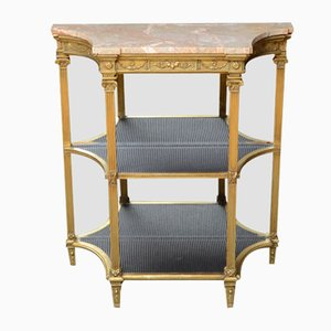 Antique Victorian Giltwood and Marble Console Table