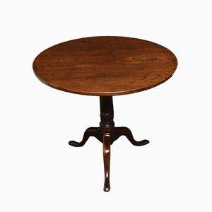 Table Console Géorgienne Antique en Acajou avec Plateau Inclinable