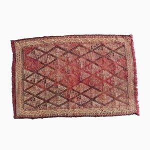 Alfombra kilim pequeña con motivos geométricos, años 70