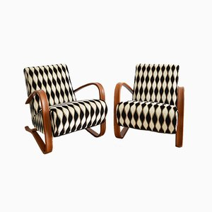 Beech Bentwood H-269 Armchairs by Jindřich Halabala, 1940s, Set of 2