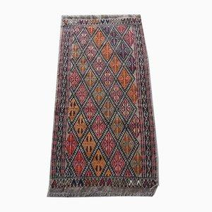 Alfombra kilim turca tejida a mano, años 70