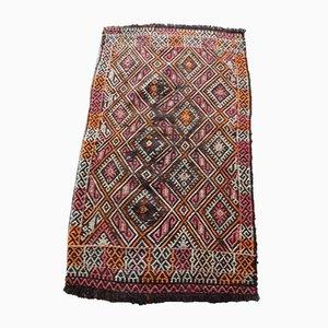 Alfombra kilim turca anatolia vintage, años 70