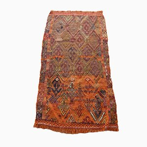 Alfombra kilim Oushak Nomadic vintage, años 70