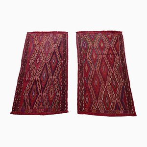 Türkische Vintage Oushak Teppiche mit Rautenmuster, 1970er, 2er Set