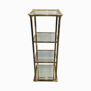 French Hollywood Regency 3-Tier Gilt Shelves, 1970s