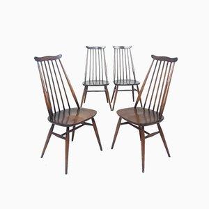 Mid-Century Esszimmerstühle aus Ulmenholz von Ercol, 1960er, 4er Set