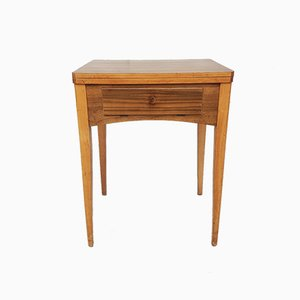 Mid-Century Walnut Side Table with Integrated Singer Sewing Machine , 1950s