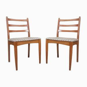 Dänische Mid-Century Esszimmerstühle aus Teak, 1970er, 2er Set