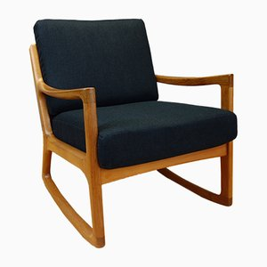 Rocking Chair Senator en Teck par Ole Wanscher pour France & Søn, 1960s