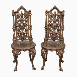 Antique Cast Iron Chairs, Set of 2