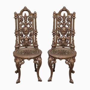 Chaises Antiques en Fonte, Set de 2