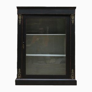 Antique Black Gothic Display Cabinet
