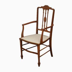 Antiker edwardianischer Sessel aus Mahagoni mit Intarsien