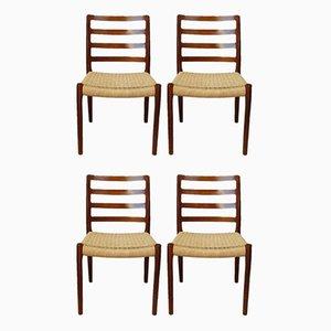 Chaises de Salon Mid-Century en Palissandre par Niels O. Møller pour JL Møllers, Set de 4