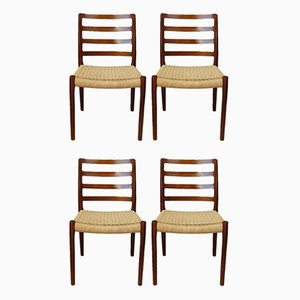 Mid-Century Rosewood Dining Chairs by Niels O. Møller for J.L. Møllers, Set of 4