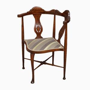 Chaise d'Angle Édouardienne Antique