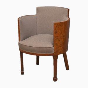 Art Deco Walnut Armchair, 1930s