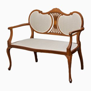 Antique Edwardian Mahogany Settee