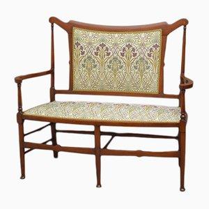 Canapé Art Nouveau Antique en Acajou