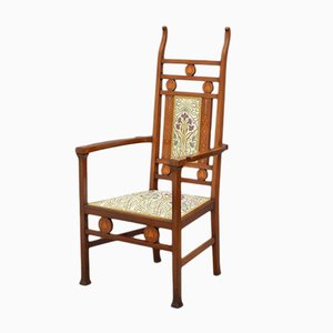 Antique Mahogany Arts and Crafts Armchair