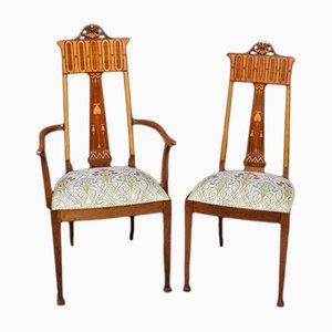 Chaises Art Nouveau Antiques, Set de 2
