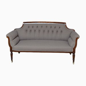 Sofá antiguo victoriano de caoba