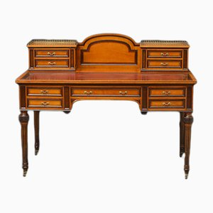 Antique Victorian Satinwood Writing Table