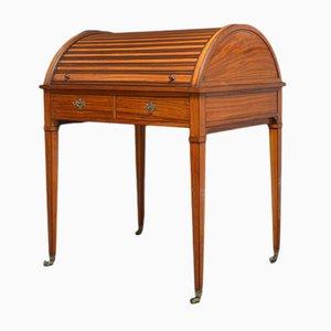 Scrivania Sheraton revival in legno satinato