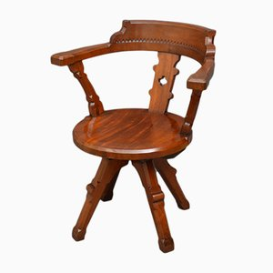 Antique Victorian Mahogany Office Chair