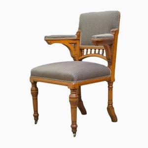 Chaise de Bureau Antique en Chêne