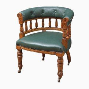 Chaise de Bureau Victorienne Antique en Chêne
