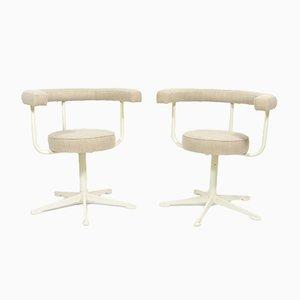 Vintage Swivel Chairs on Metal Legs, Set of 2